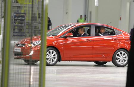 Hyundai Solaris был протестирован лично Владимиром Владимировичем