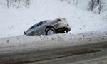 На зимней дороге не совершайте резких маневров