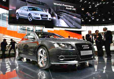 The Audi A5 на 77-м Международном автошоу в Женеве. Фото: Jeff J Mitchell/Getty Images
